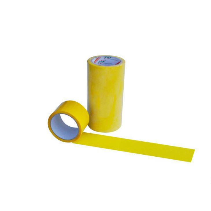 Bright Yellow BOPP Adhesive Tape Jumbo Roll Packaging Tape