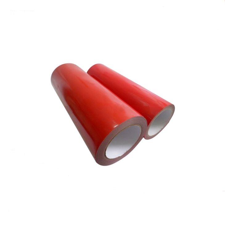 Red BOPP Adhesive Tape Jumbo Roll Packaging